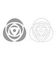rose grey set icon vector image
