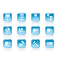 Server and Hosting icons vector image
