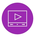 Video player line icon vector image