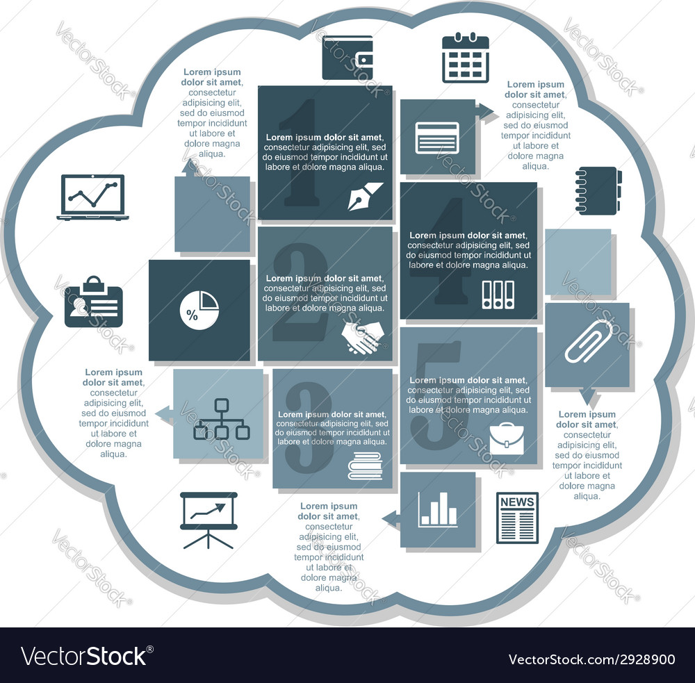 Infographics business design vector