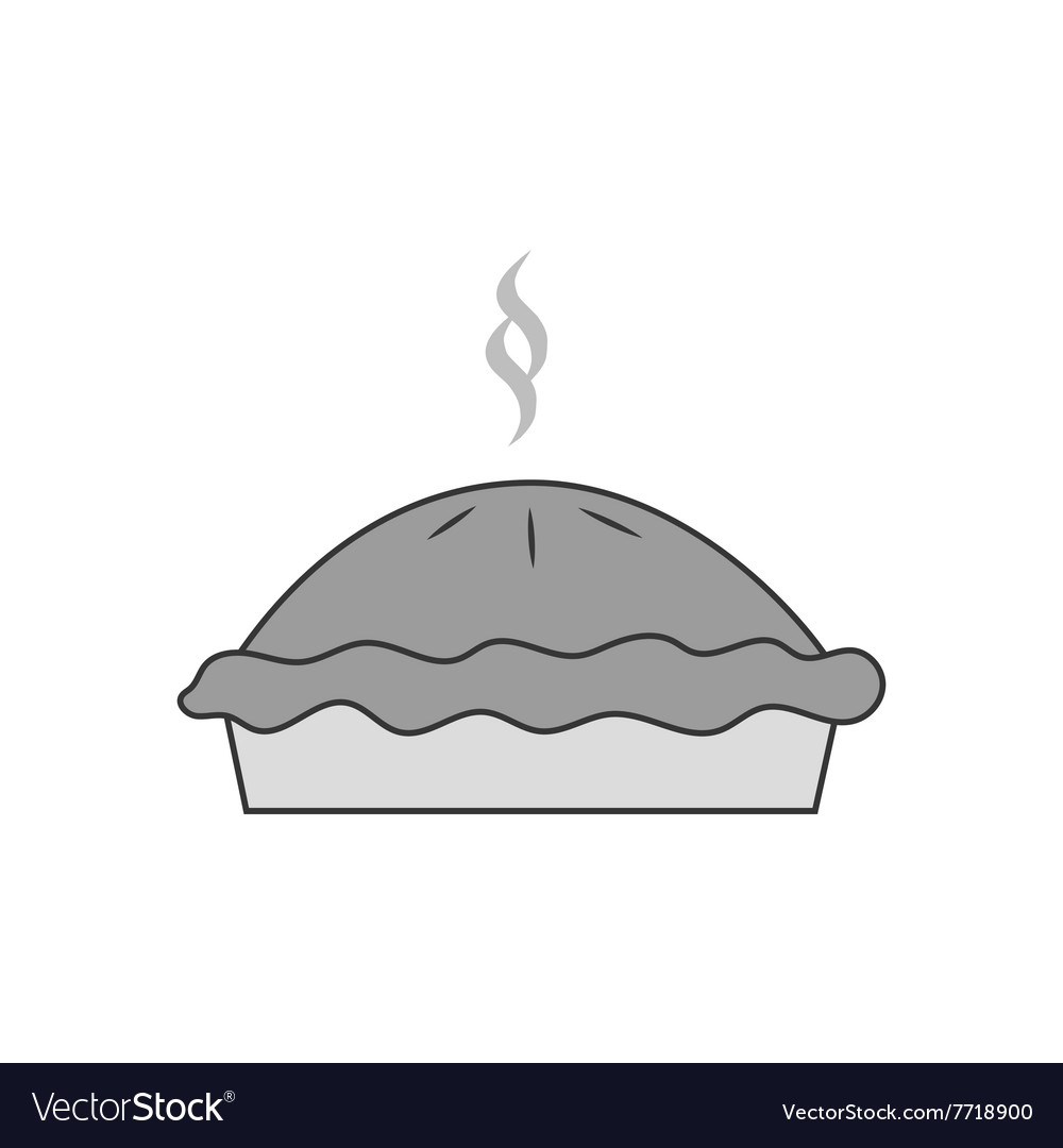 Pie dessert icon vector