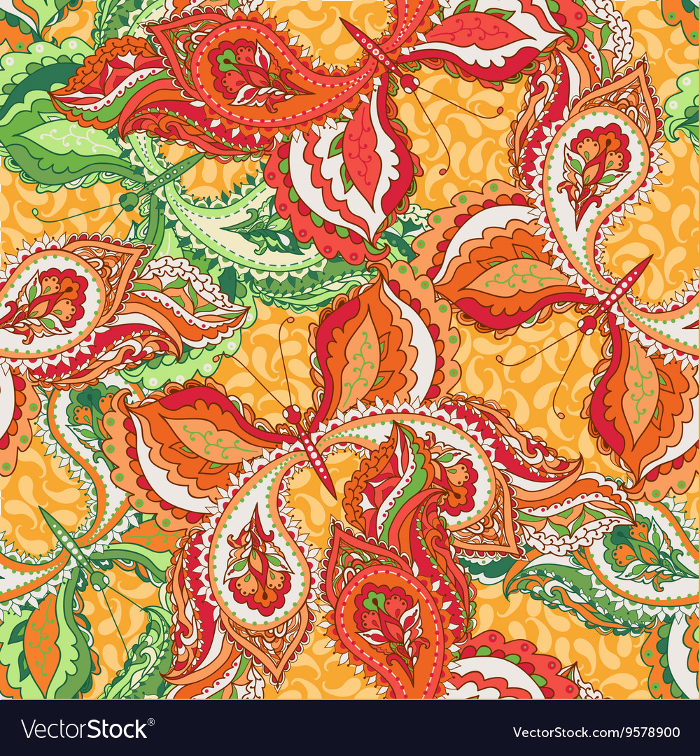 Seamless pattern with decorative colorful vector