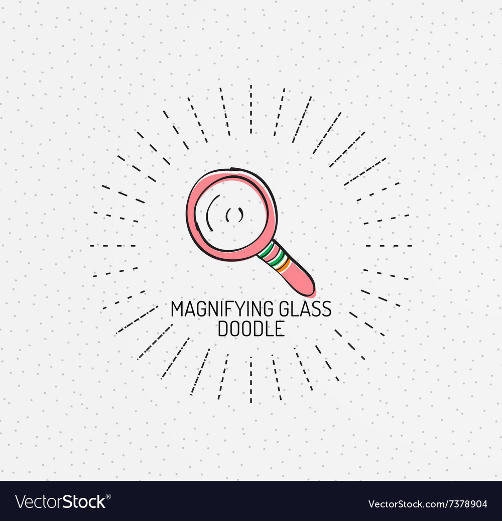 Multicolored handdrawn doodles icon vector