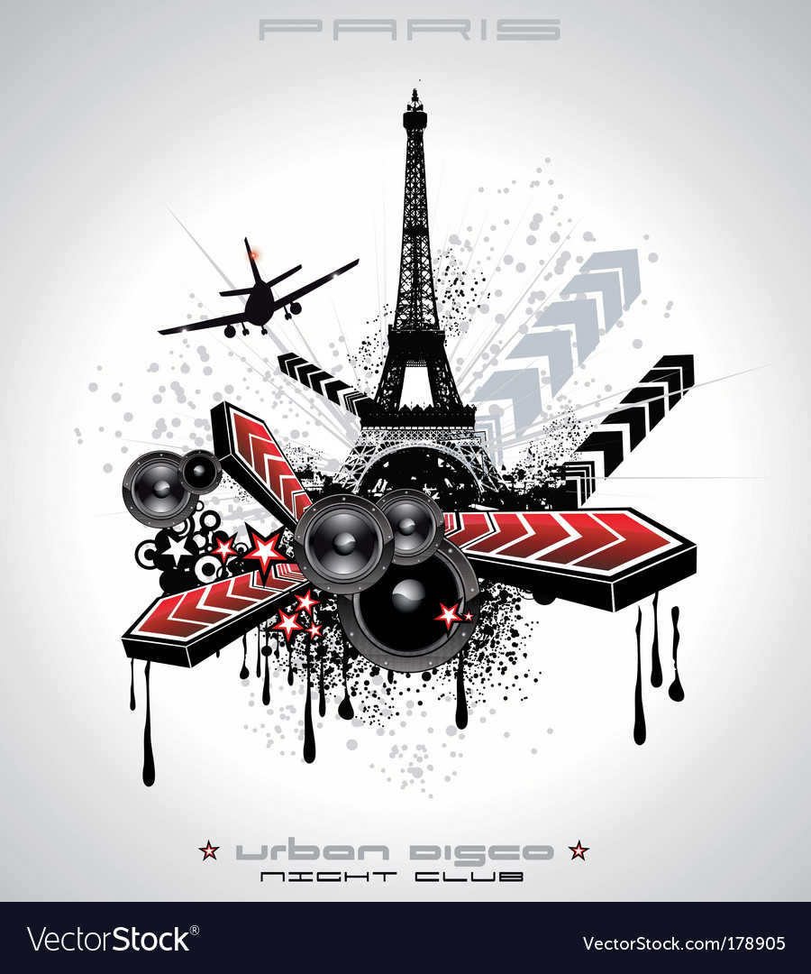 French discotheque vector