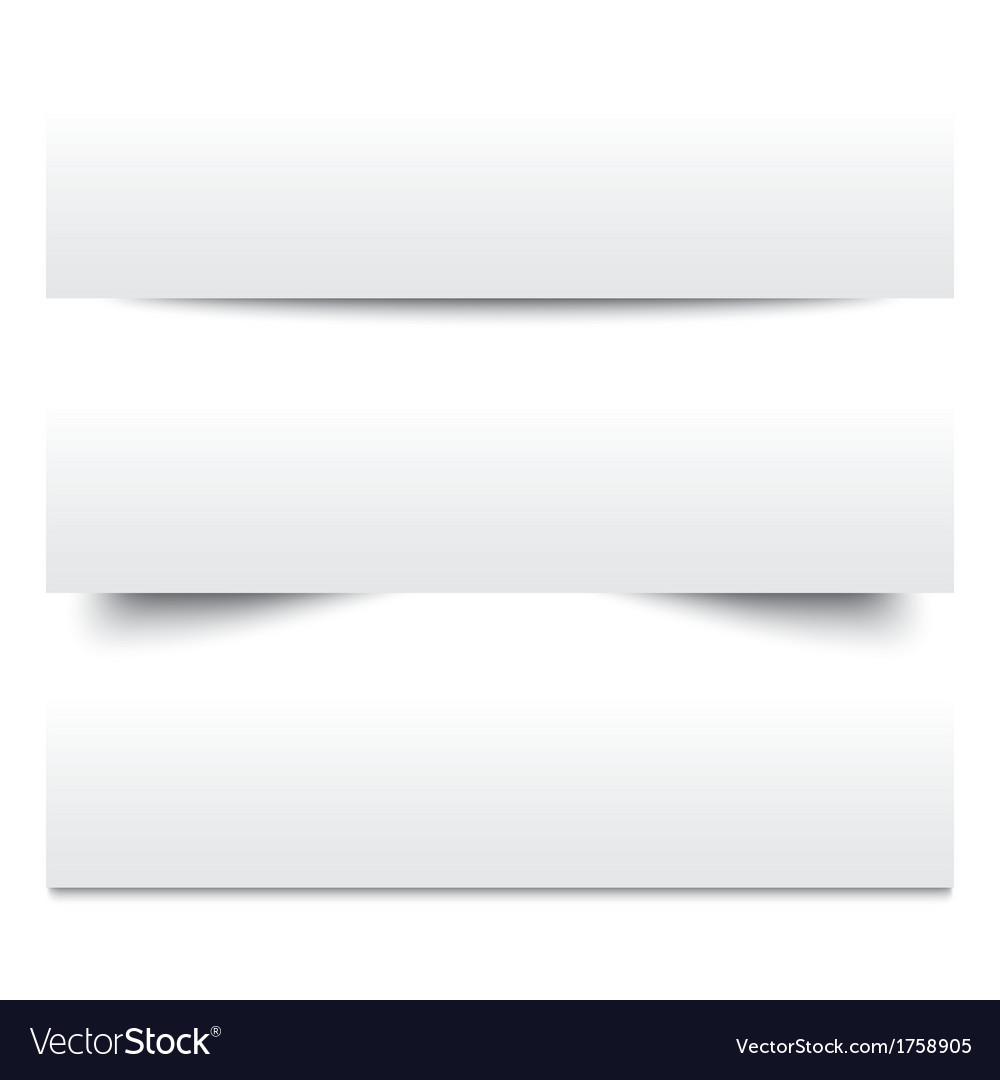 Paper shadows collection of white note papers vector
