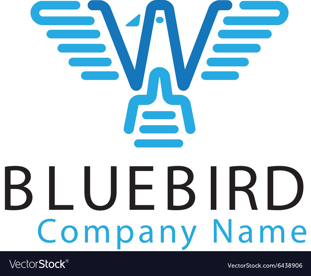 Blue bird design vector