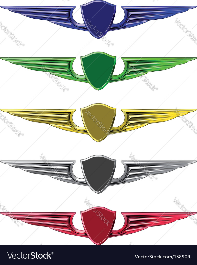 Set of emblems vector