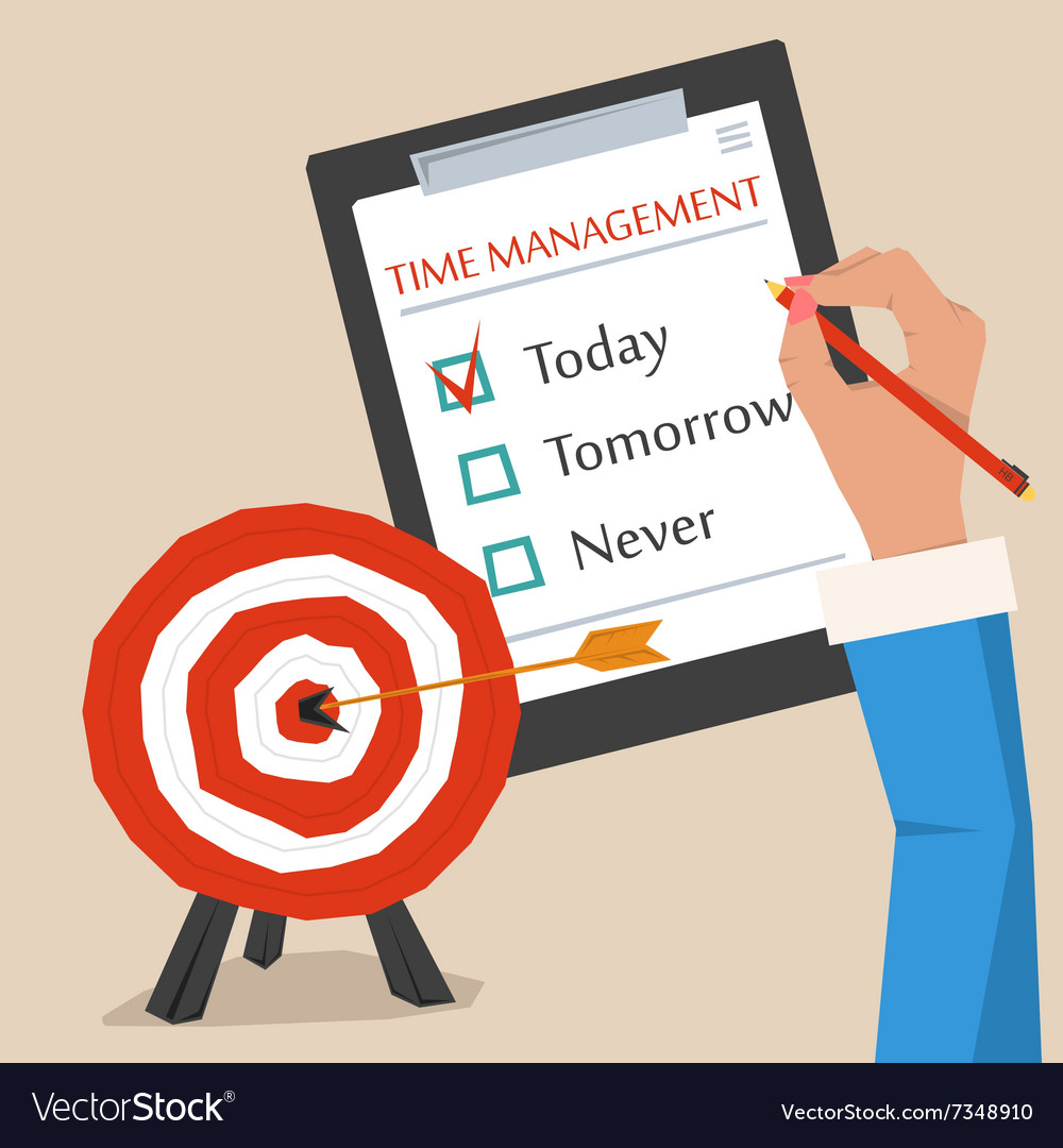 Concept of time management vector