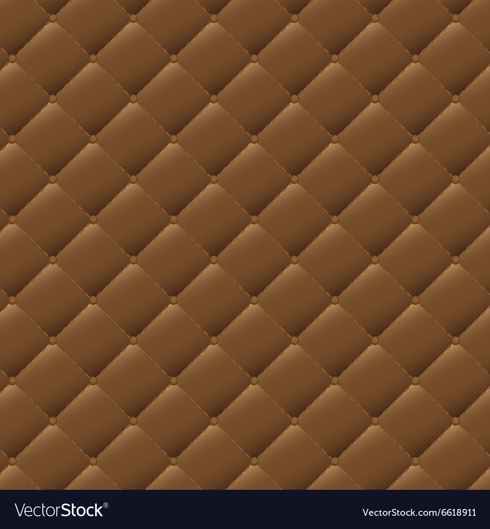 Seamless brown leather texture background vector