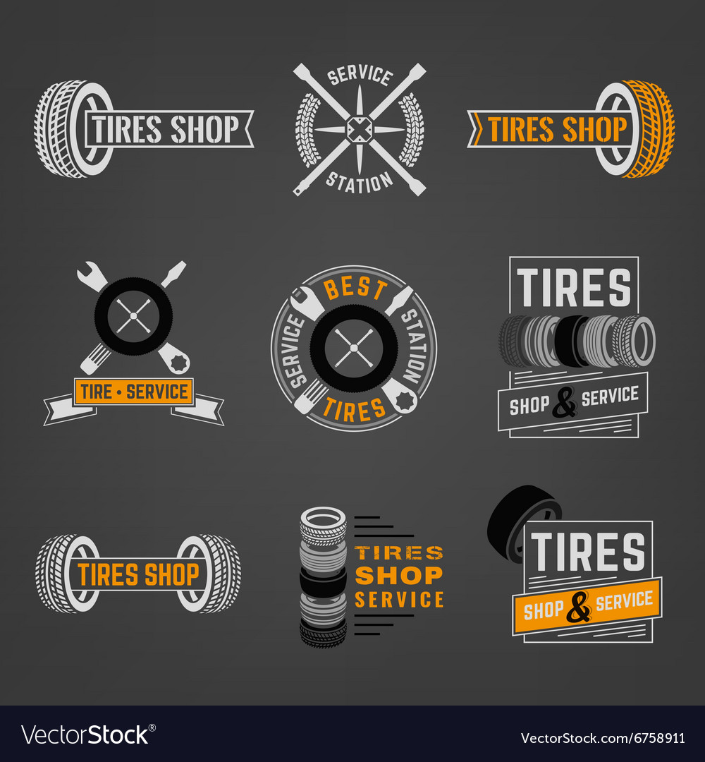 Tires shop logo vector