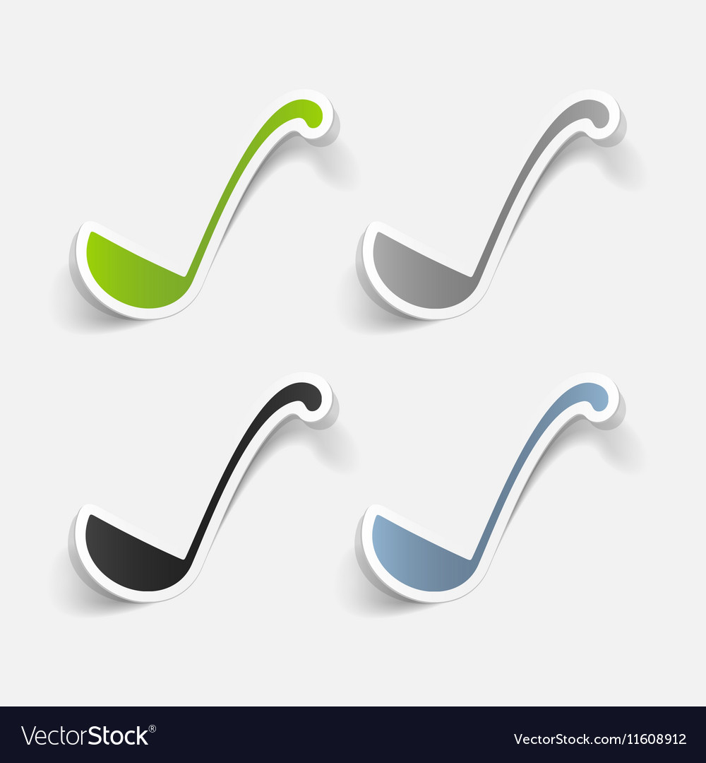 Realistic design element ladle vector