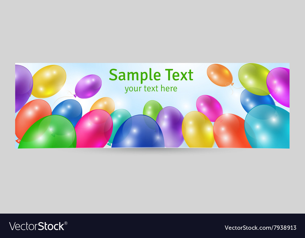 Festive background banner template vector