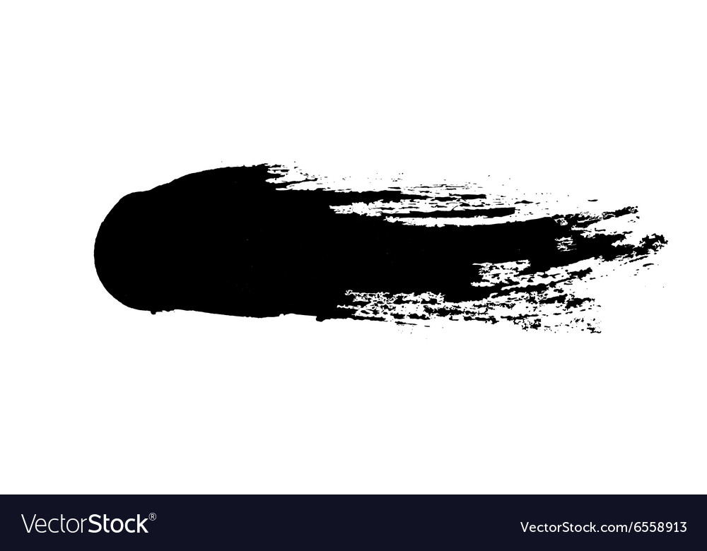 Grunge ink brush isolated on white vector