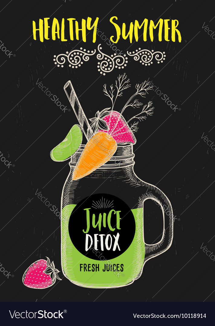 Juice menu for restaurant template vector