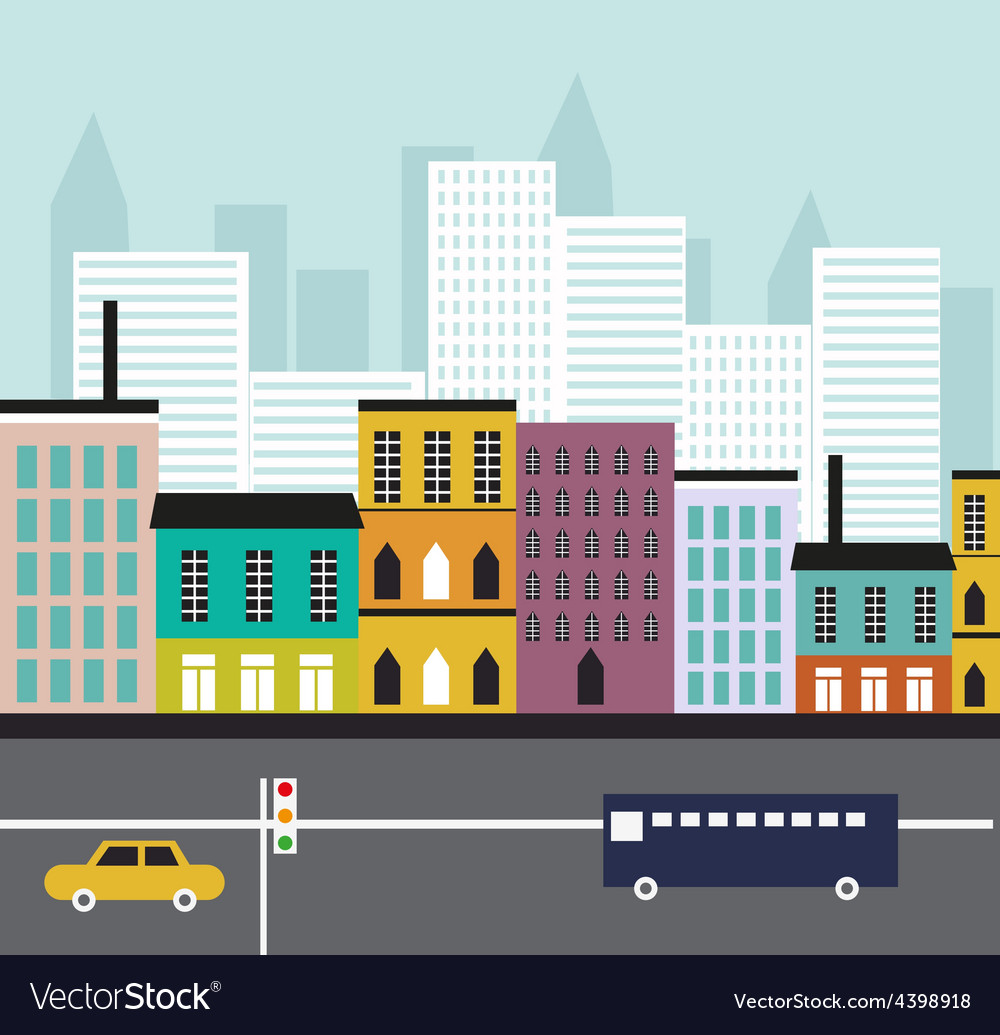 Abstract street landscape vector