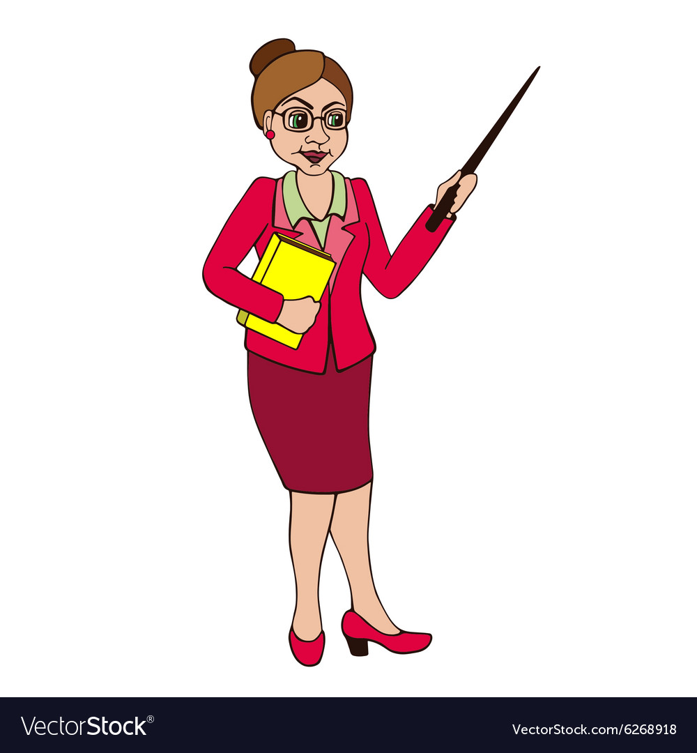 Teacher on a white background vector
