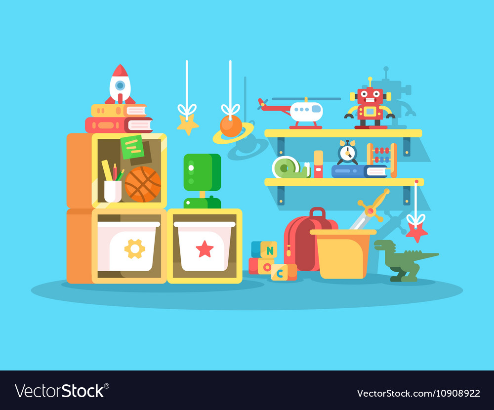 Interior of child room vector