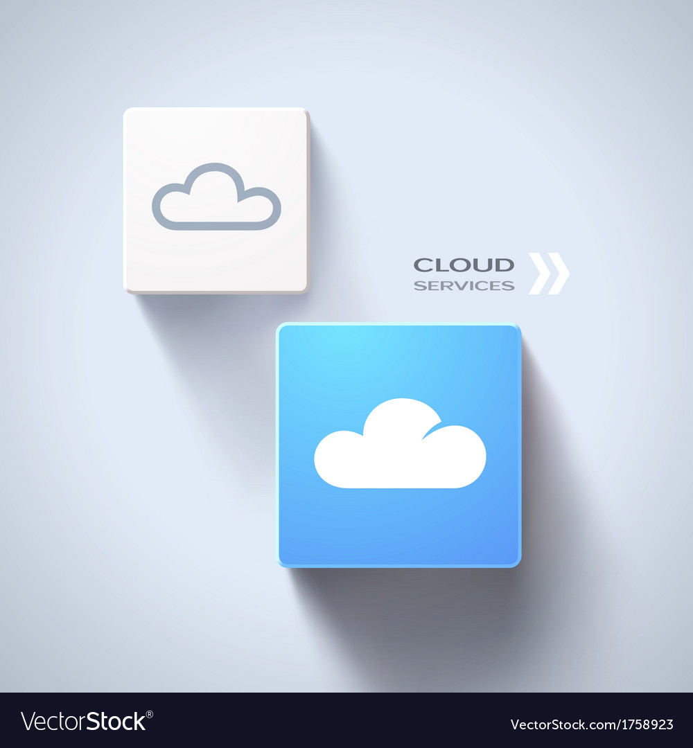 Cloud services concept vector
