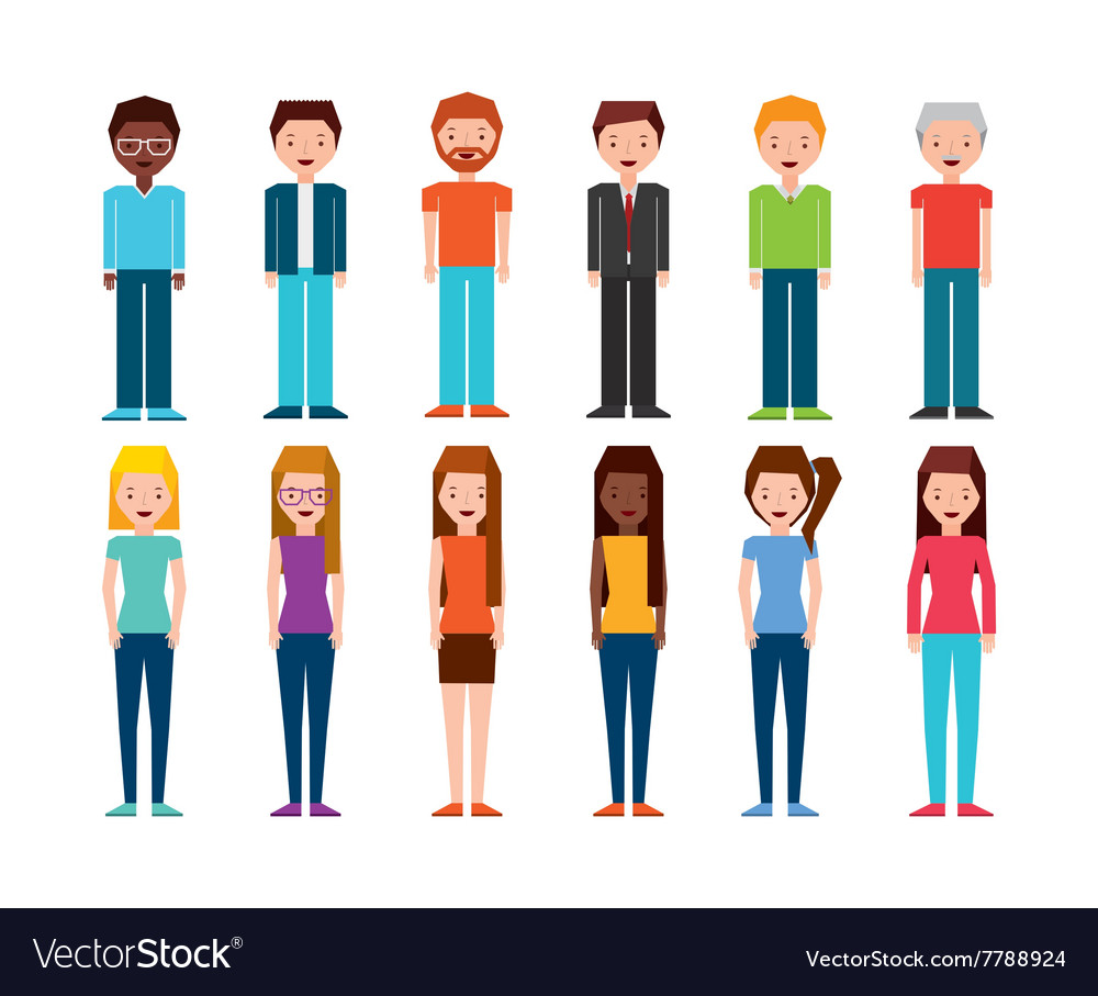 Isometric people design vector