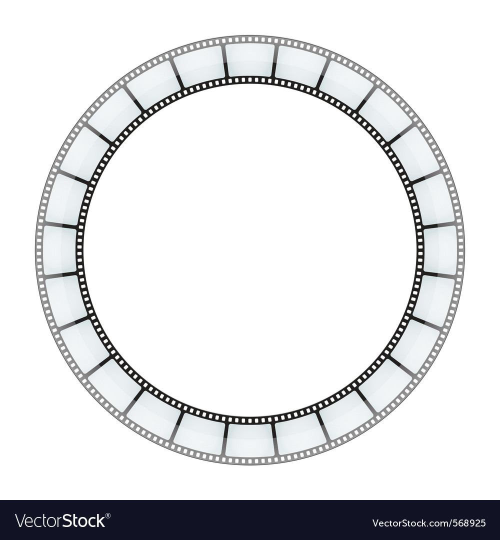 Film tape frame vector