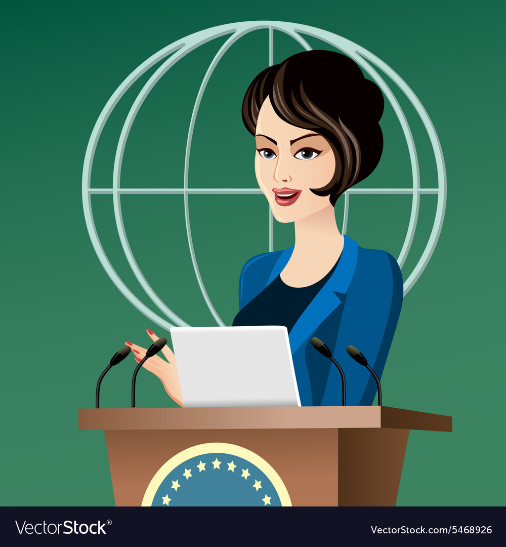 Woman politician vector