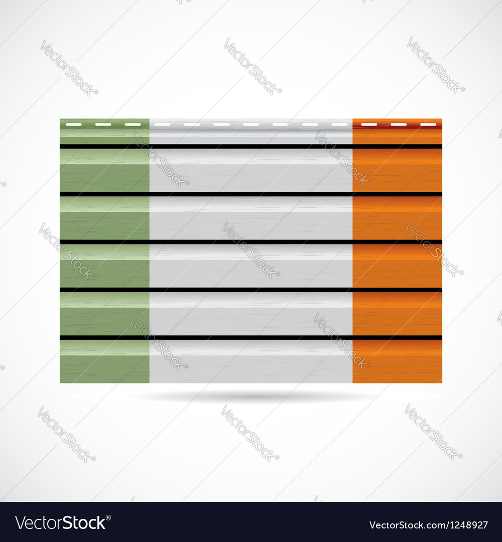 Siding produce company icon ireland vector