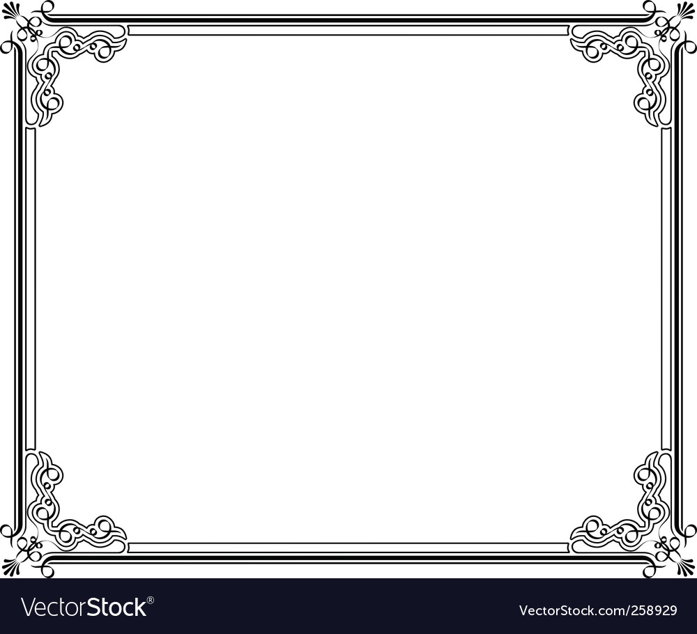 Corners and borders vector