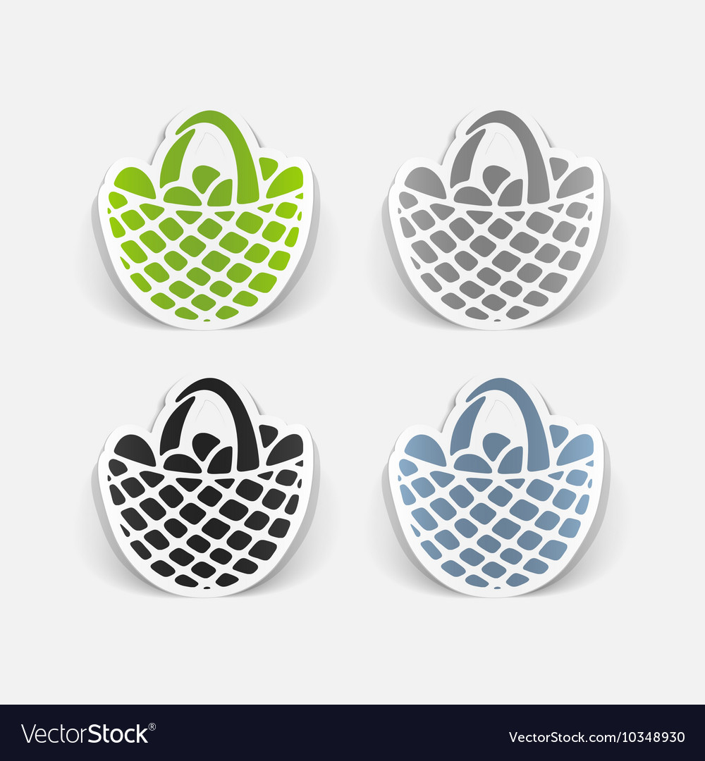 Realistic design element easter basket vector