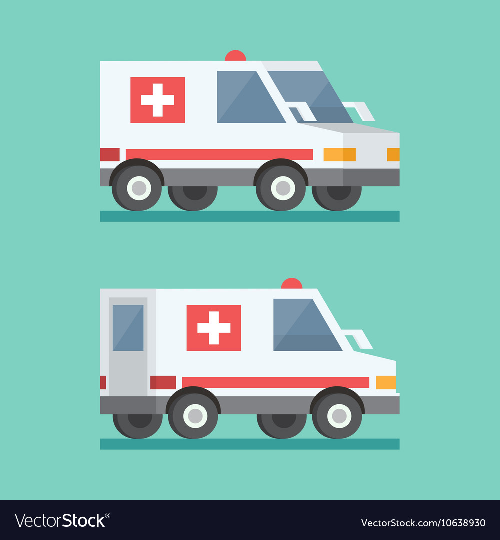Transport ambulance car icon vector
