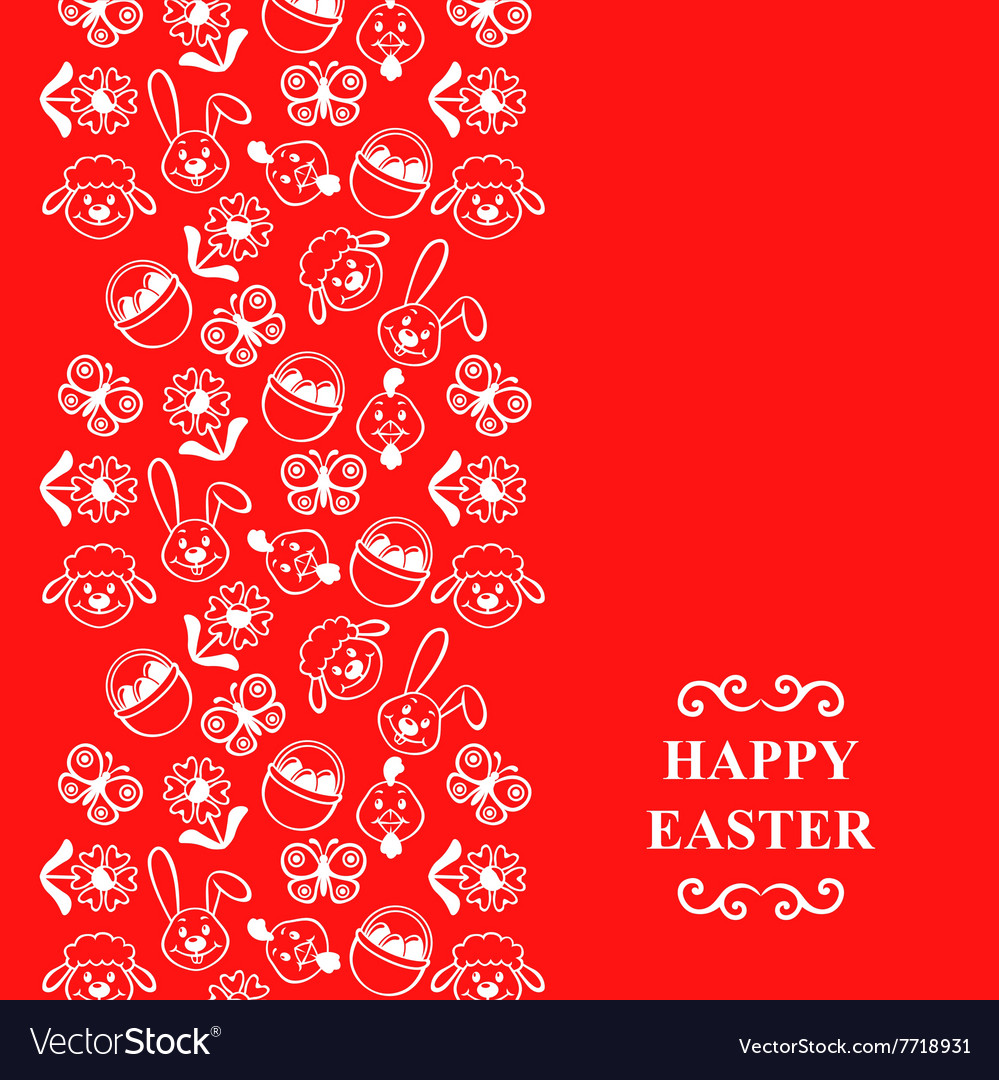 Easter muzzle vertical red vector