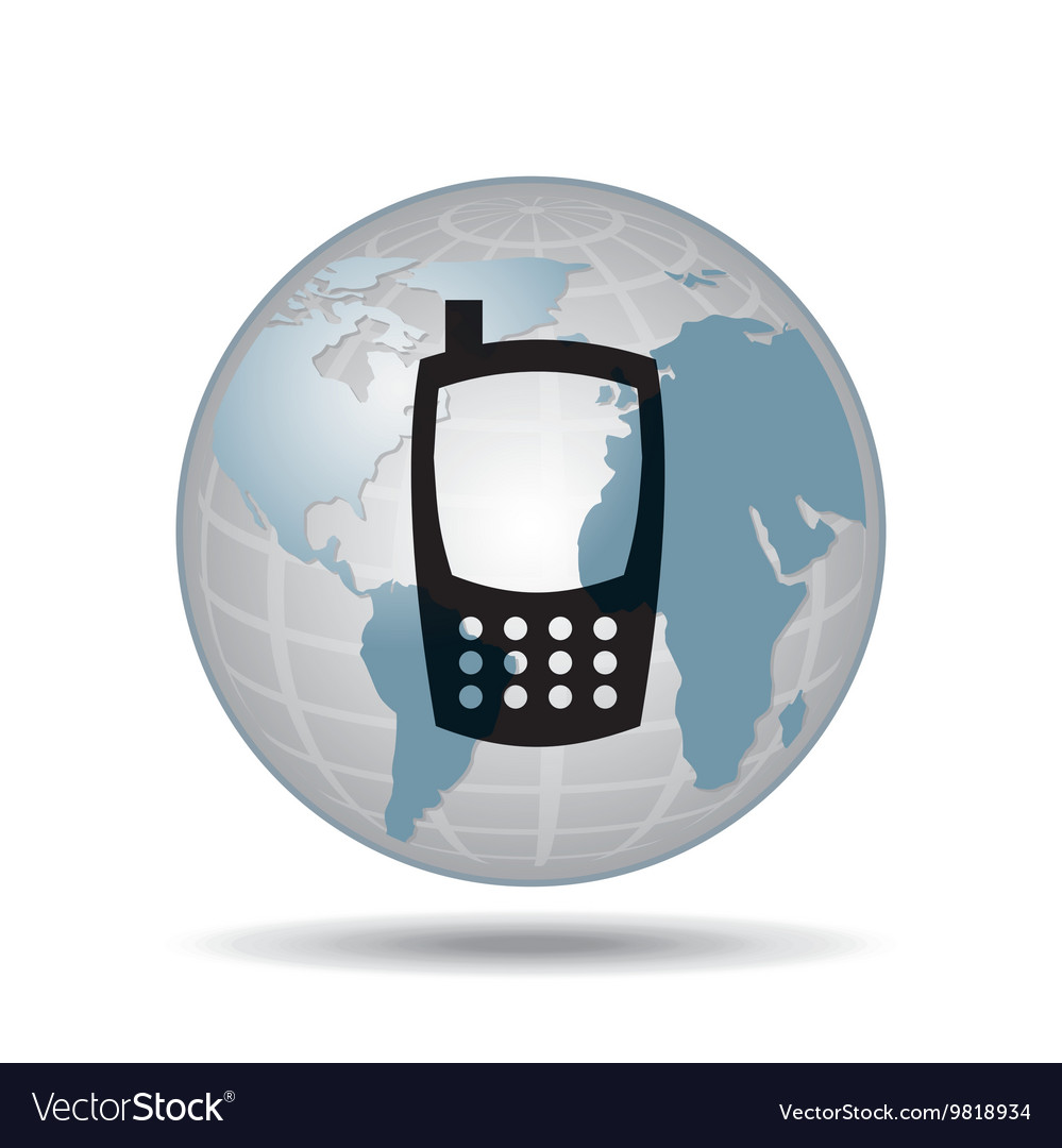 Technology cellphone smartphone social media vector