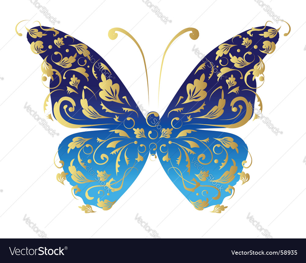 Butterfly ornate for your design vector