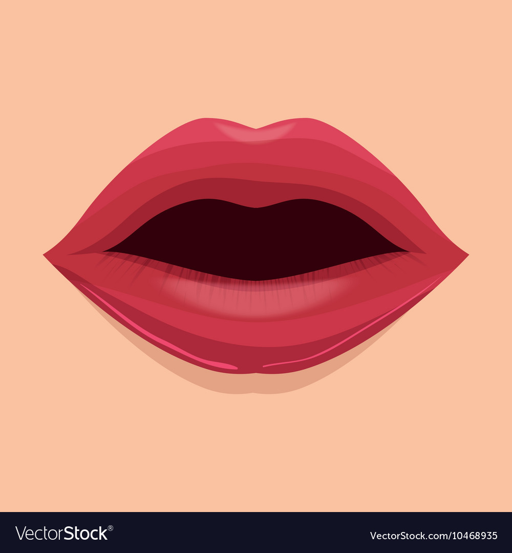 Lip female beautiful d icon vector