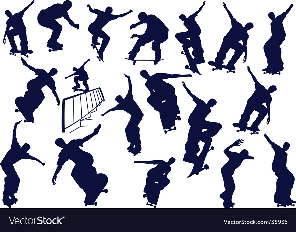 Skateboard boys vector