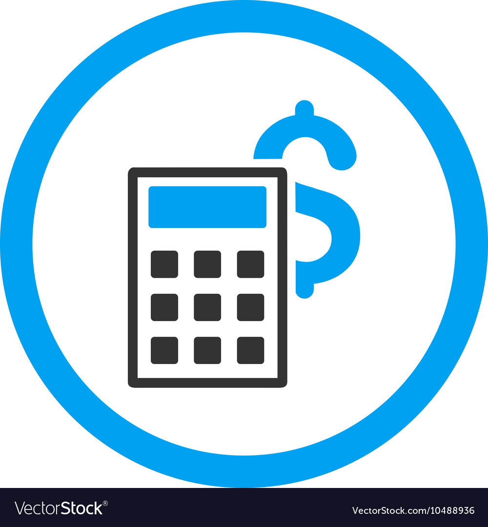 Business calculator rounded icon vector