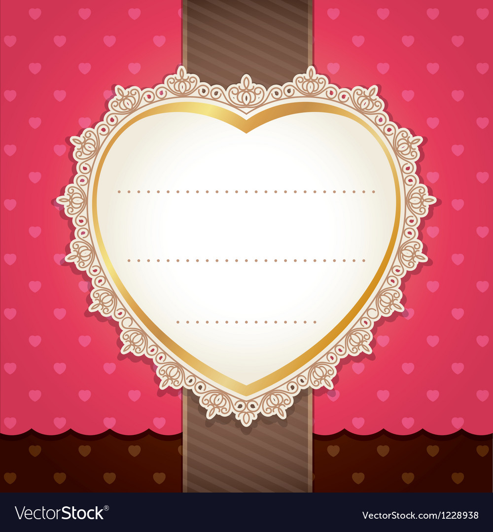 Valentine wedding card design vector