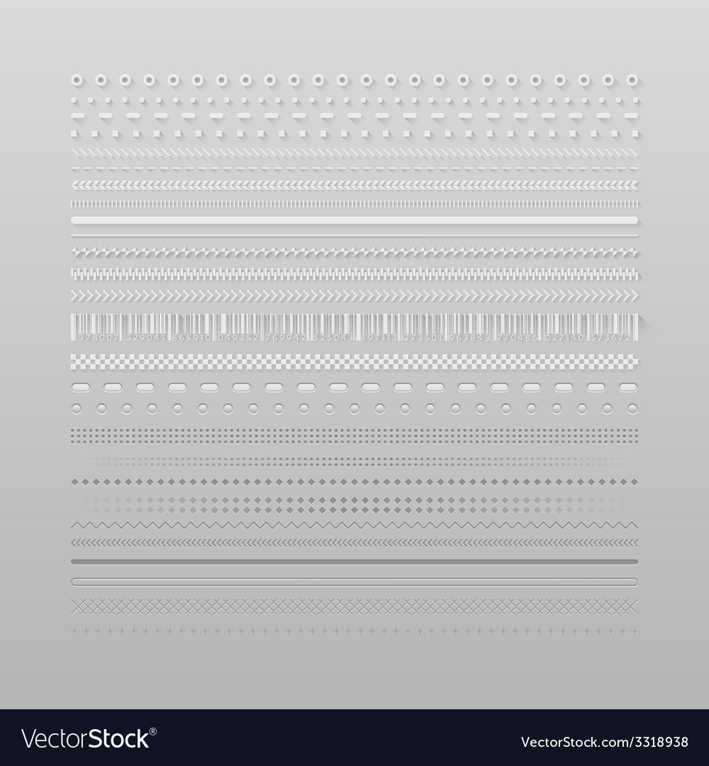 Web dividers vector