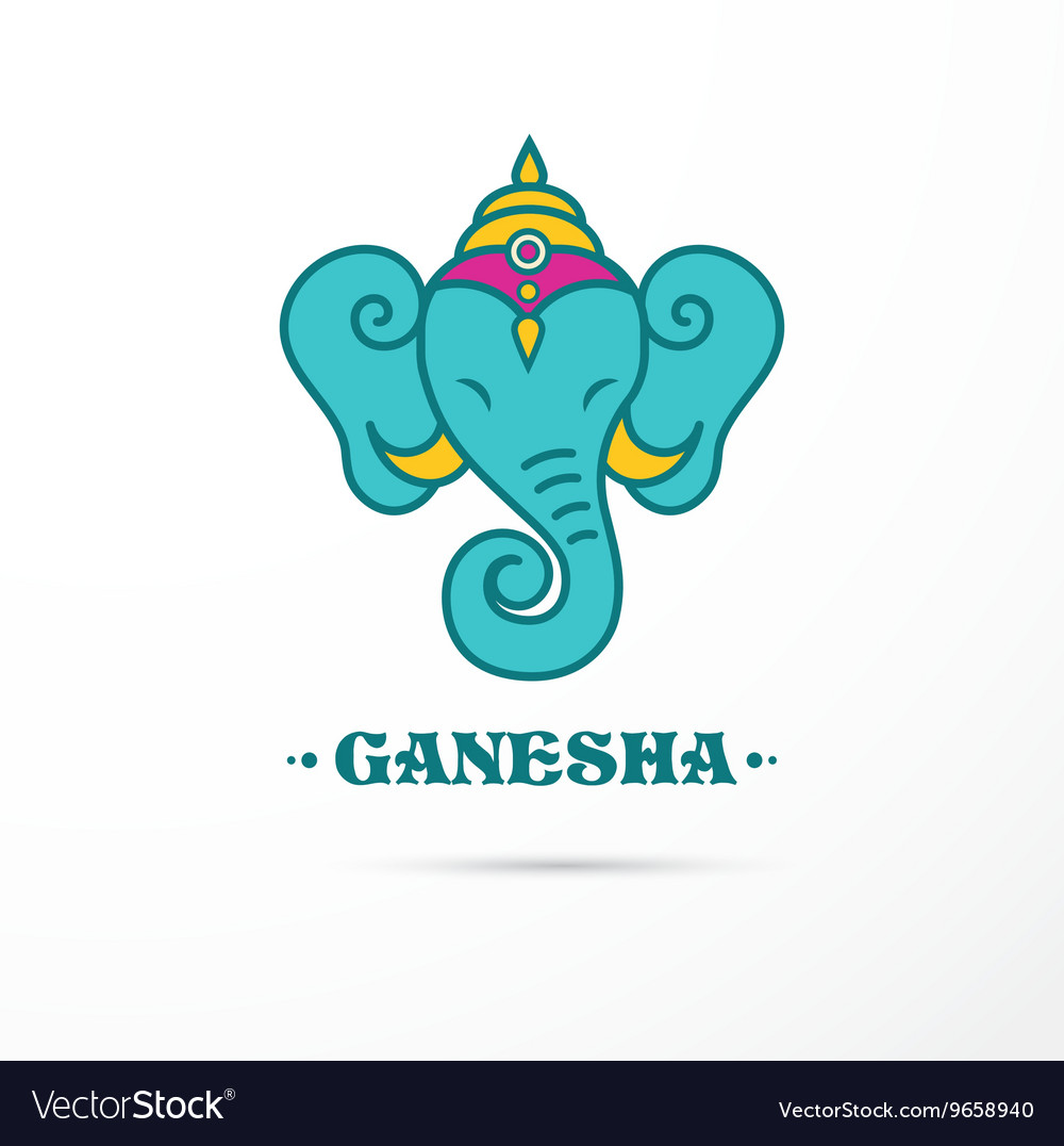 India  ganesha indian icon vector