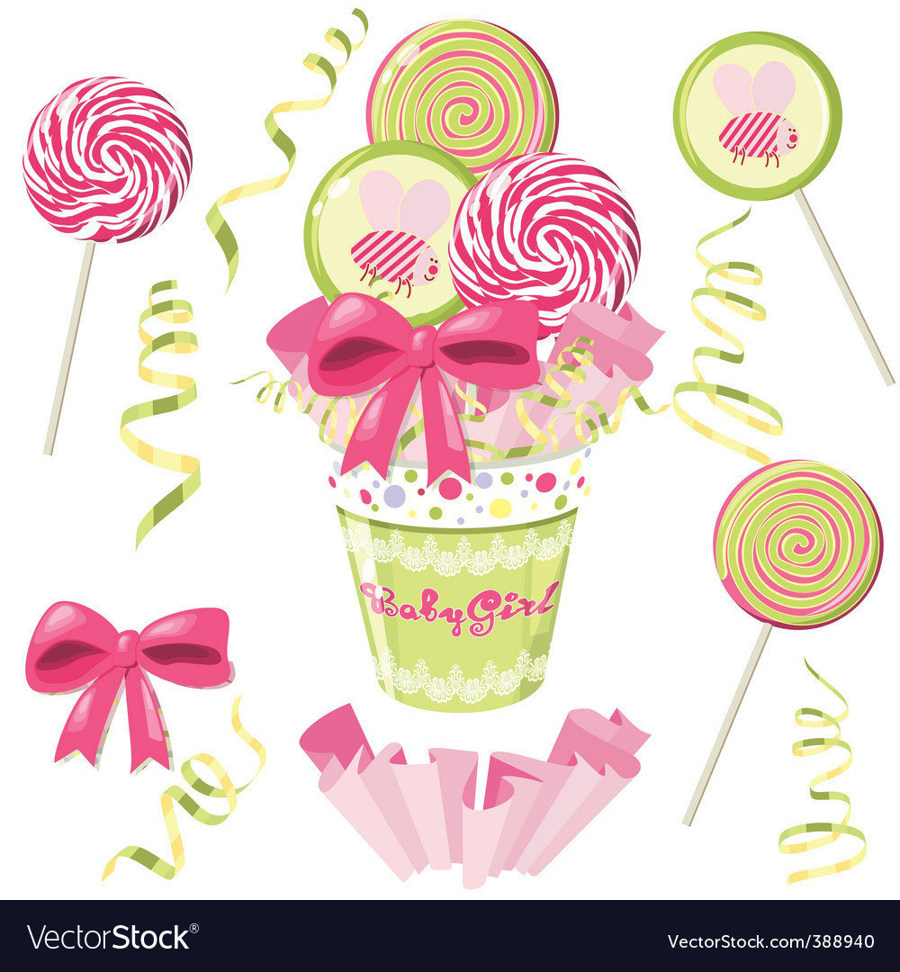 Lollipop bouquet vector