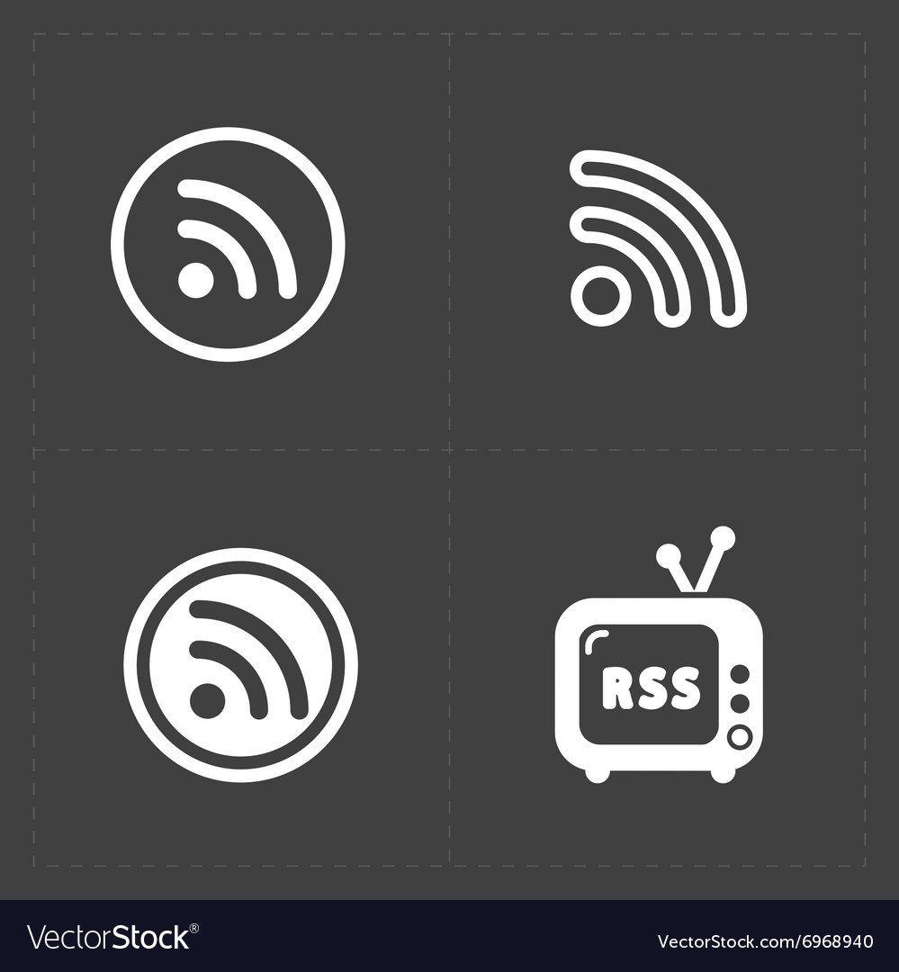 Rss sign icons rss feed symbols vector