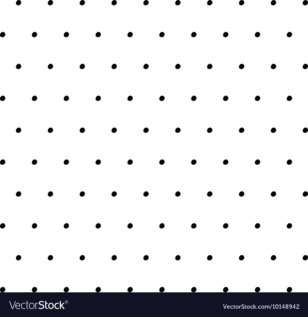 Hand drawn ink polka dot pattern vector