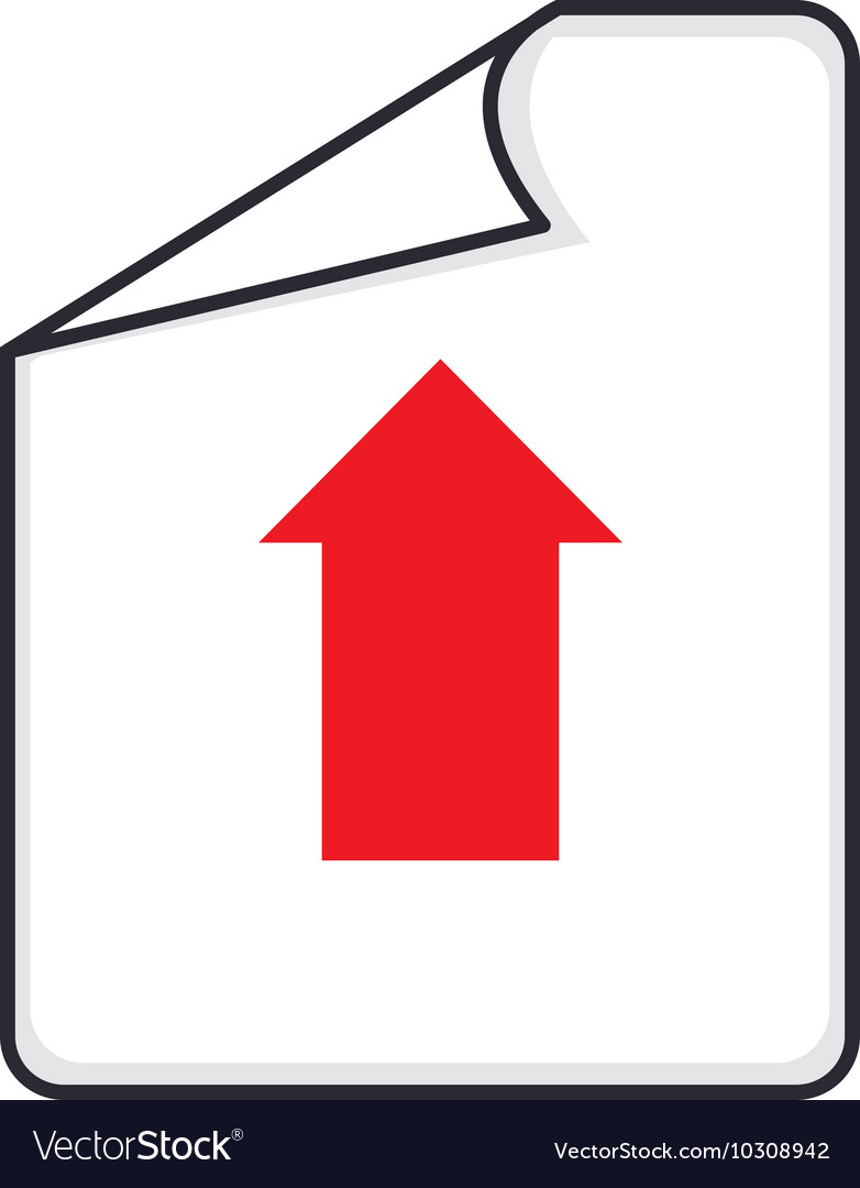 Paper arrow upload vector
