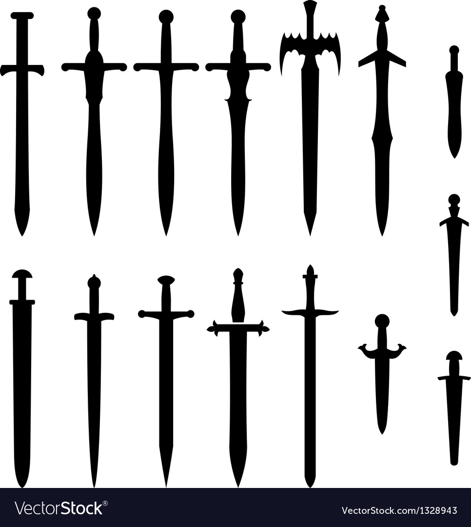 Swords and knifes vector