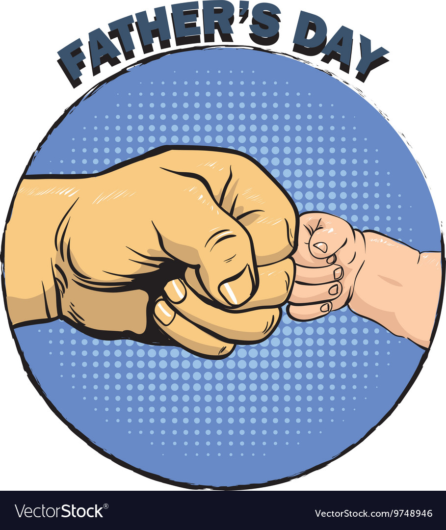 Happy fathers day poster in retro comic style pop vector