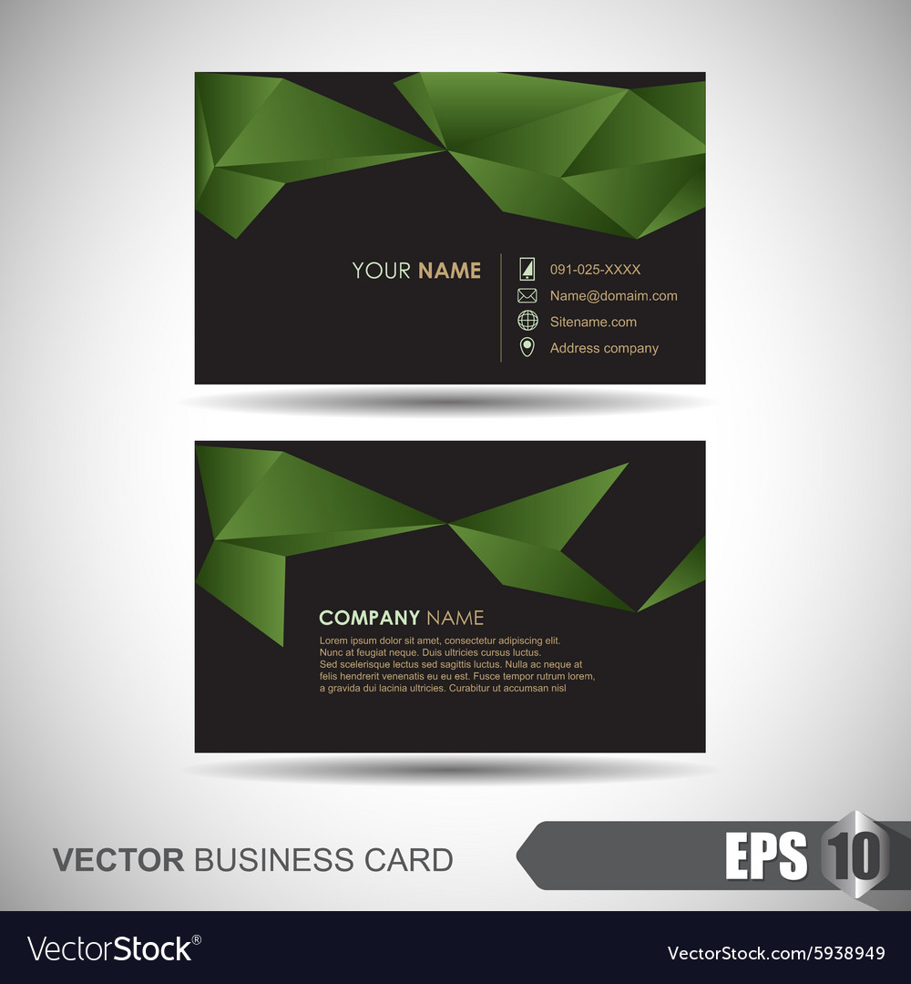 Business card 002 vector