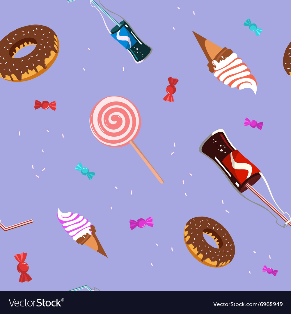 Seamless candy sweet pattern vector
