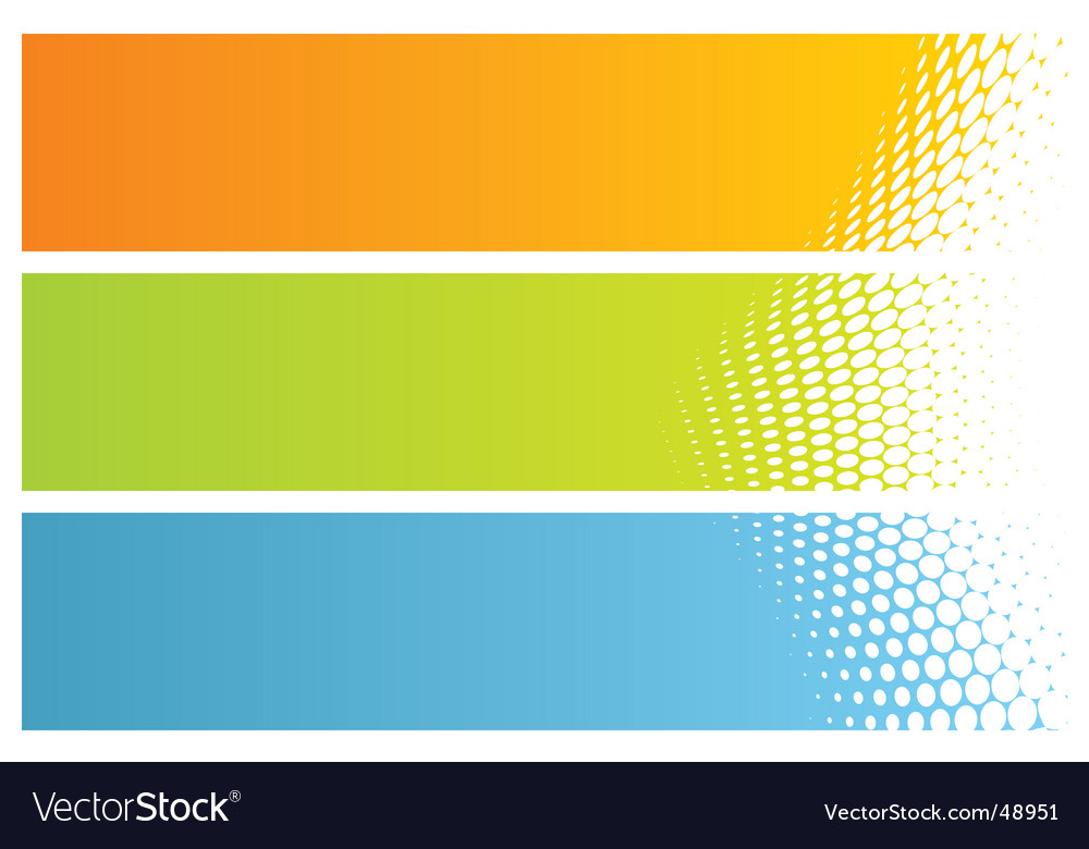 Banners headers vector
