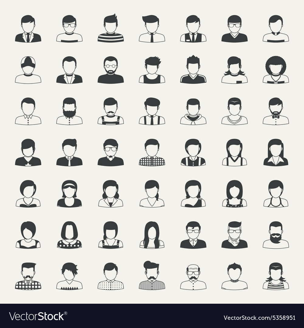 Business icons and people icons eps10 vector