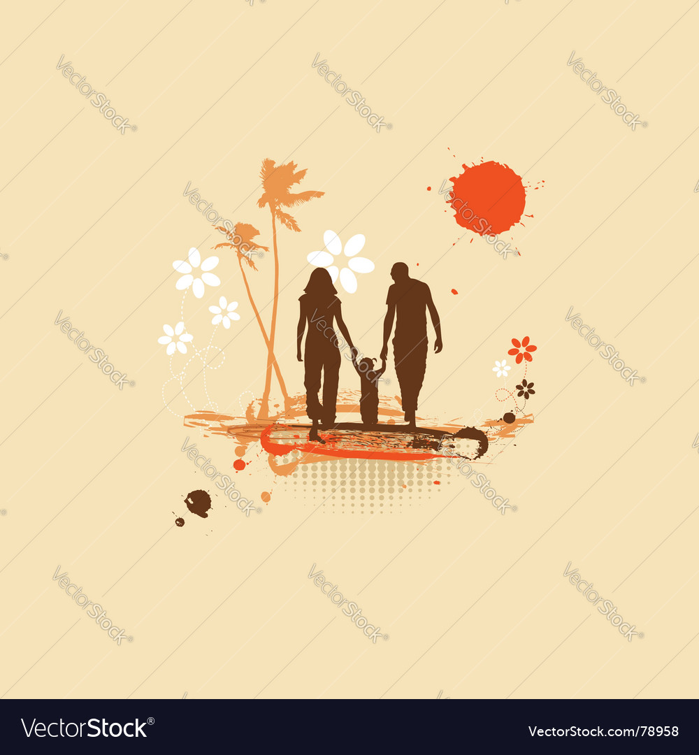 Family summer holiday vector