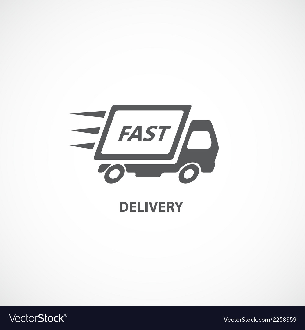 Delivery icon silhouette vector